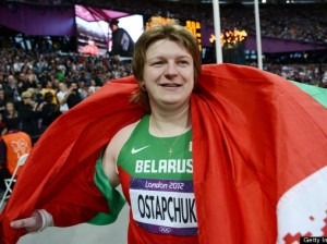 Belaruss Nadzeya Ostapchuk was stripped of the shot put gold medal she won in London, after failing a doping test. Source: Getty Images