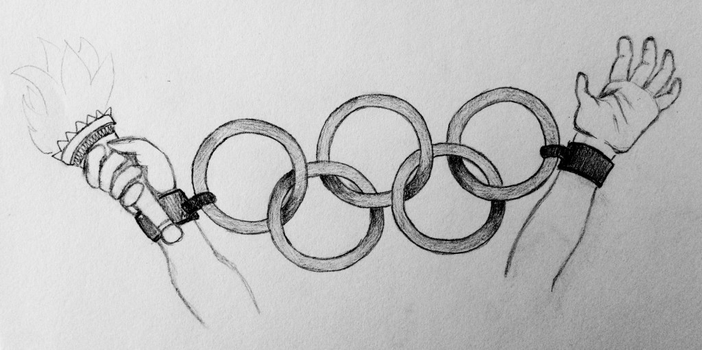 Olympics cartoon - Beck Kim for web